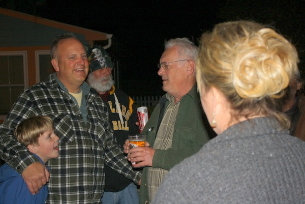 """Pottsy"" and Jenny Potts hosted Frankie's party in their back yard Saturday night."