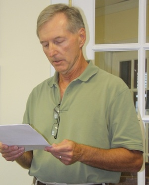 Assistant Town Manager Bob Panek: the driving force behind the sale of the Old School. (Wave photo)