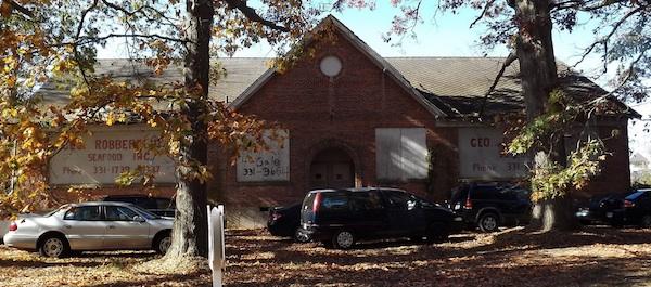 Rosenwald School at November 19, 2011 dedication of historic marker (ESVA.net photo)
