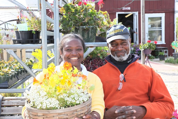 Carold and Matt Yancy at Sunnyside Garden Center's May 4th Open House