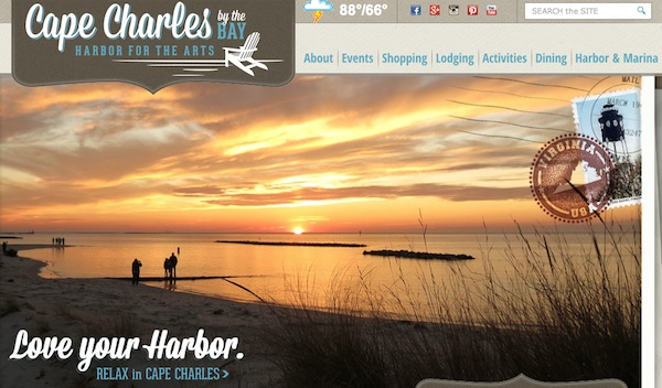 "New tourism website proclaims Cape Charles a ""Harbor for the Arts."""