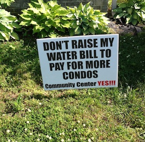 With water bills an election issue in 2012, Town officials paid portion of sewer bond out of general savings. (Wave photo)