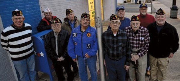Members of VFW Post 56 in Cheriton (from left) Bill Stramm, Jim Chapman, Bill Burton, Bob Roche, Ed DeAngelis, Don Mclvee, Steve Downs, Jack Woolley, Marvin Milton, Joe Vaccaro.