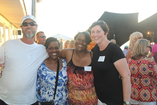 Cape Charles High School reunion organizers Troy Lewis, Yetta Stratton Wilkins, Pamela Brown Upshur, Leah Bowen Forest (Wave photo)