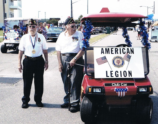Veterans Bill Burton and Jack Woolley at the July 4th parade in Cape Charles.
