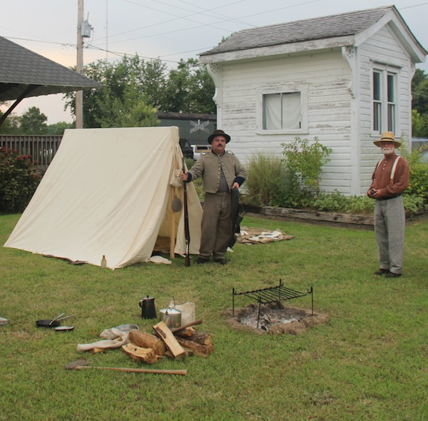 Civil War-era encampment outside Cape Charles Museum (pay no attention to the power lines). (Wave photo)