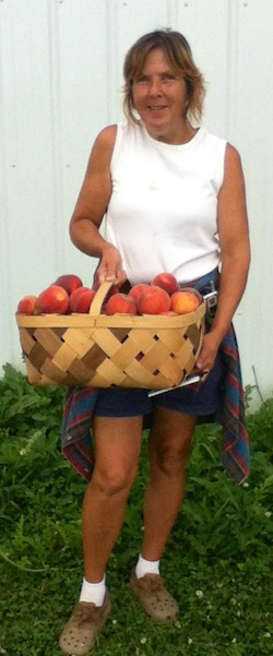Tammy Nottingham started picking peaches at age 10 and never slowed down. (Wave photo by Sarah Gollibart)