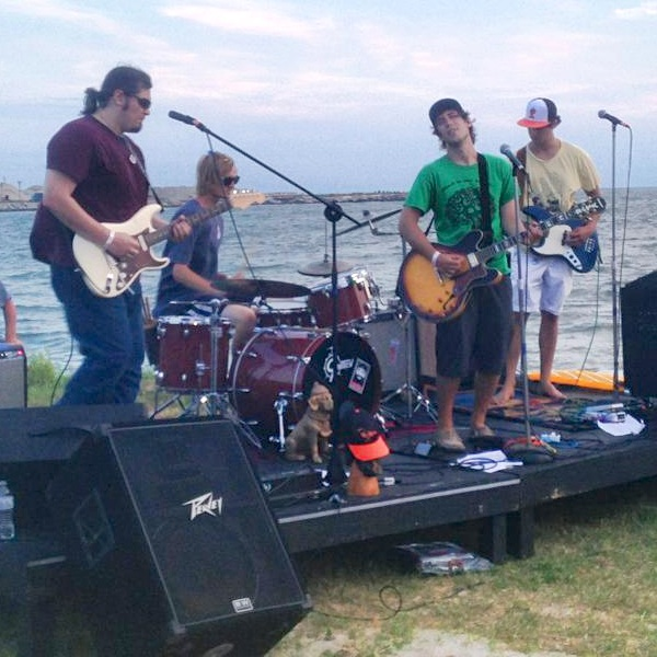 Fat Tuesday and the New Custards at a Harbor Party gig. The band members play up and down the Shore, but say they like Cape Charles the best.