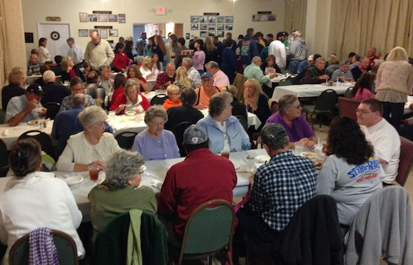 American Legion Hall in Cheriton was full Saturday night in support of young woman who was hit and assaulted near Oyster. (Wave photo)