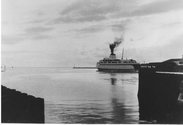 Princess Anne ferry departing Cape Charles in the 1940s.
