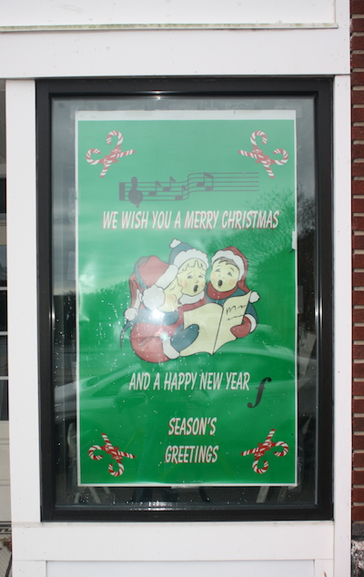 Bah humbug -- another illegal sign!