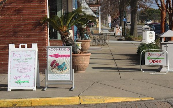 Merchants are now limited to one sandwich sign on the sidewalk.