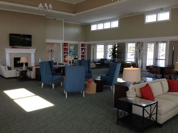 2,800 square-foot Members' Lounge is a great place to relax with friends (assuming your friends are Members)