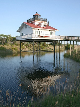 Replica Old Plantation Flats lighthouse boasts great Bay Creek location -- but parking might be a problem.