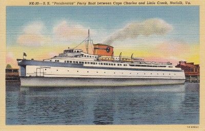Pocahontas ferryboat steamed between Cape Charles and
