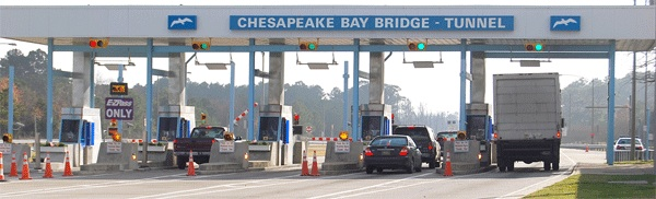 Chesapeake Bay Bridge-Tunnel is one of the few surveyed that charges a toll in both directions.