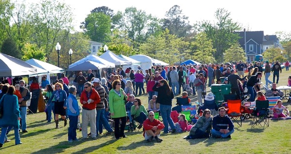 The town turned out for last year's Crabby Blues Festival despite chilly weather. This year will be warmer!