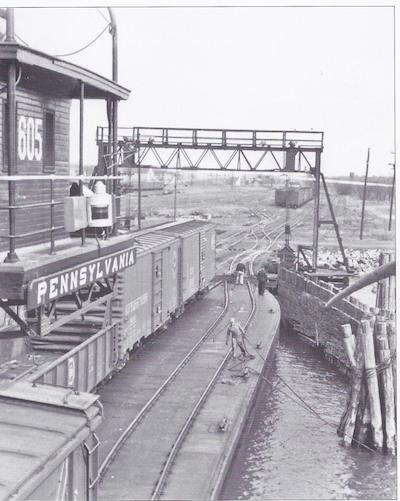 Pennsylvania sign board as shown on Barge 605 is coming home. (Photo: Eastern Shore Railway Museum)