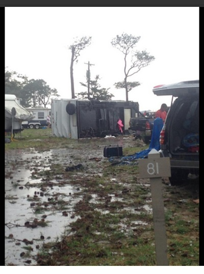 Overturned camper at Cherrystone Campground (Photo: Jordan Bertok)