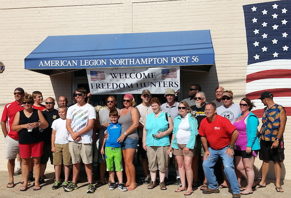 Weekend participants in front of American Legion lodge.