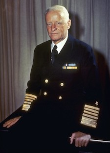Admiral Nimitz's stripes went almost up to his elbows.