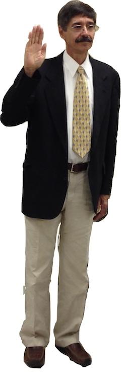 Mayor Proto takes oath of office. (Wave photo)