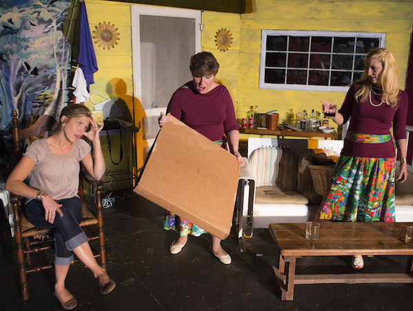 "Christy Iverson, Mellisa Stein and Sherri DeMarino on a hot Texas porch in ""Laundry & Bourbon."" (Photo: Chris Roll)"