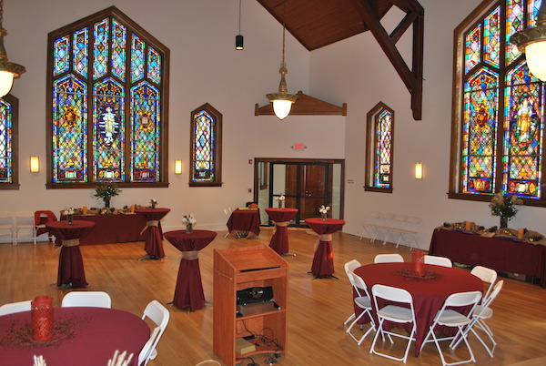 Heyward Hall is available for multiple uses including weddings.
