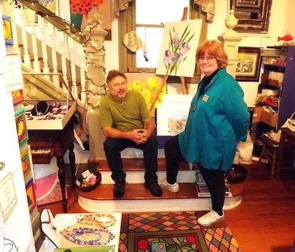 Mary Miller and David Handschur in their Eastville gallery. (Photo: Artisan Guild)