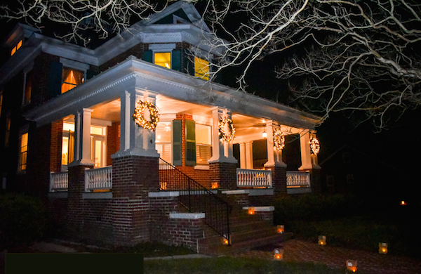 Magnificently restored Abod residence on corner of Tazewell and Pine was also a feature of the Progressive Dinner Tour. (Photo: Chris Glennon)