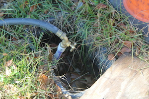 Existing water connection at old school. Town is not billing McCormack for water used by contractors.