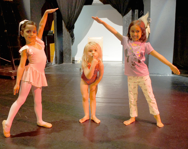 Arts Enter had a pic of a cute 'Future Prima Ballerinas' rehearsing for the play 'Incredible Exploits of an Effervescent Elf''