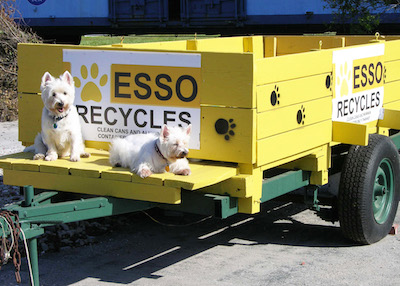 New ESSO recycle trailer across from Cape Charles Coffee House will turn aluminum cans into cat food for needy animals (with a little help from their friends).